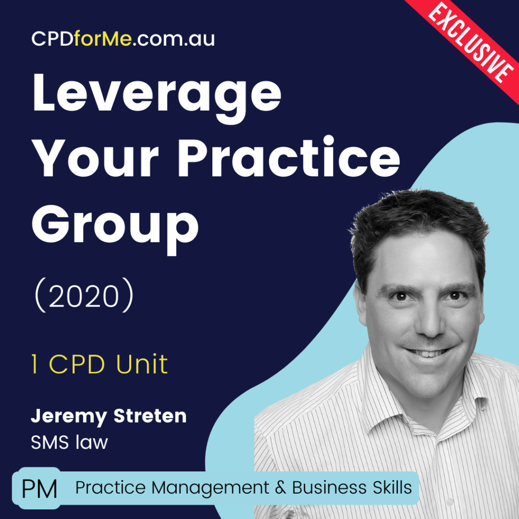 Leverage Your Practice Group Online CPD