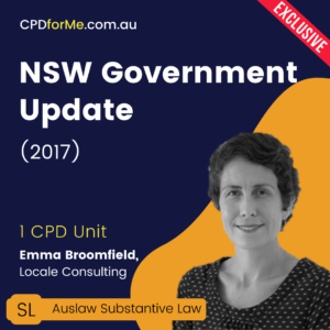 NSW Government Update (2017) Online CPD