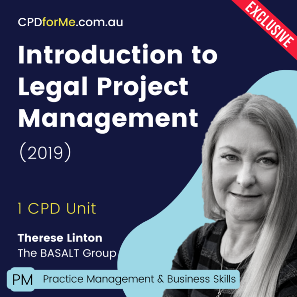 Introduction to Legal Production Management (2019) Online CPD