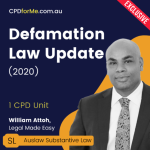Defamation Law Update Online CPD