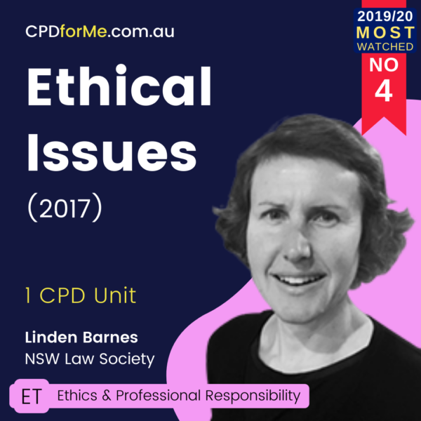 Ethical Issues (2017) Online CPD