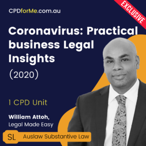 Coronavirus: Practical Business Legal Insights Online CPD