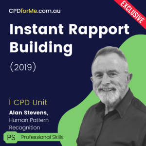Instant Rapport Building (2019) Online CPD