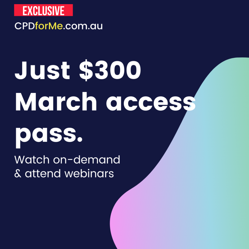 Just $300 March access pass