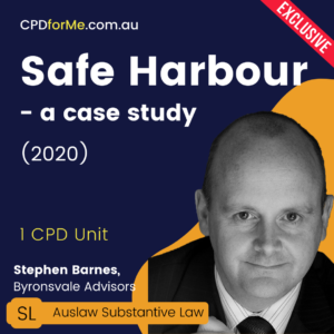 Safe Harbour – a case study (2020) Online CPD