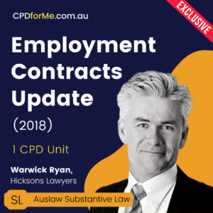 Employments Contracts Update (2018) Online CPD
