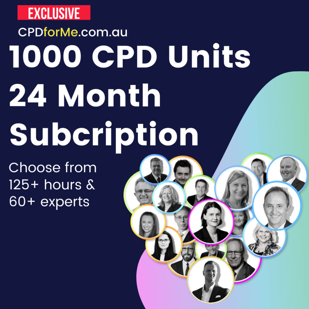 1000 CPD for Me Unit Subscription Corporate Solutions