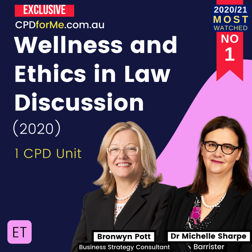 Wellness & Ethics in Law Discussion (2020)