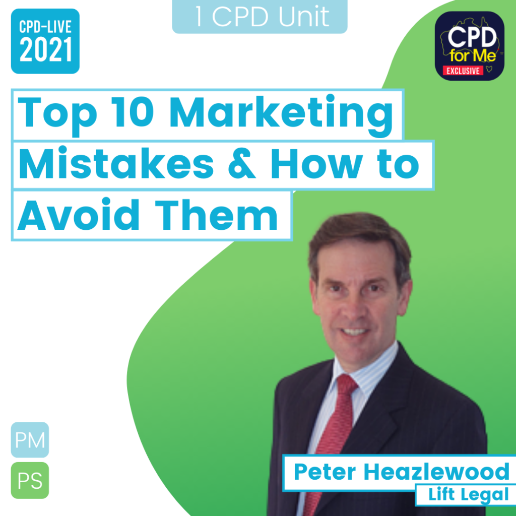 Top 10 Marketing Mistakes & How to Avoid Them CPD-LIVE Webinar