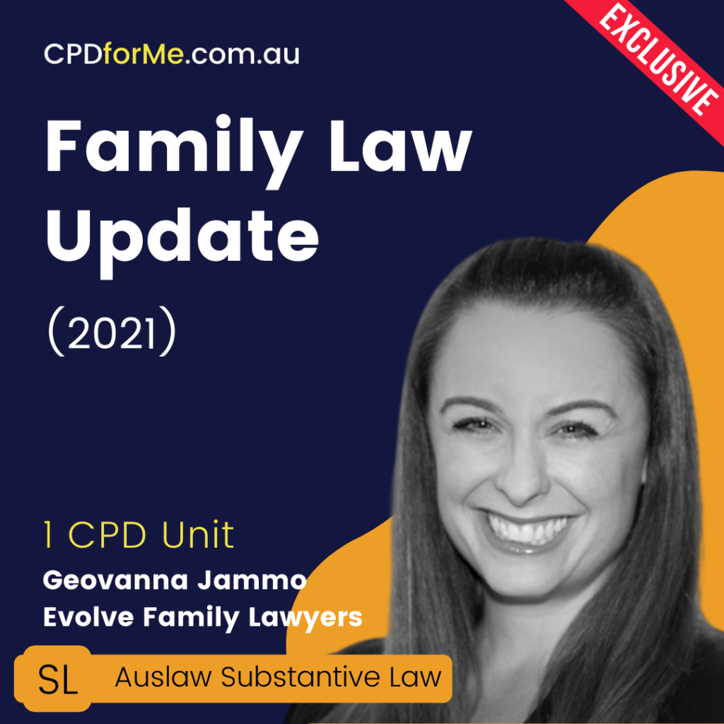 Family Law Update (2021) Online CPD