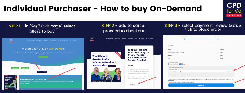 CPDforMe FAQs Individual Purchaser - How to buy On-Demand