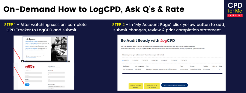 CPDforMe FAQs On-Demand How to LogCPD, Ask Q's & Rate
