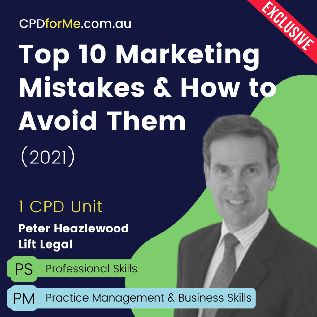 Top 10 Marketing Mistakes & How to Avoid Them (2021) Online CPD