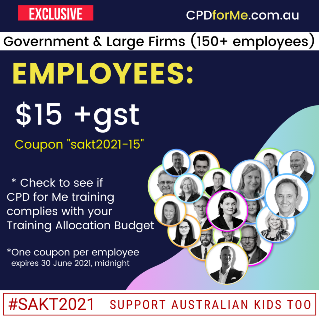 SAKT2021 Employee large firm - Government - CPD for Me